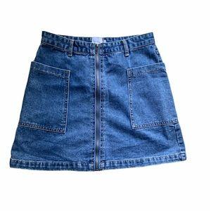 Princess Polly denim Skirt with pockets size 10 M